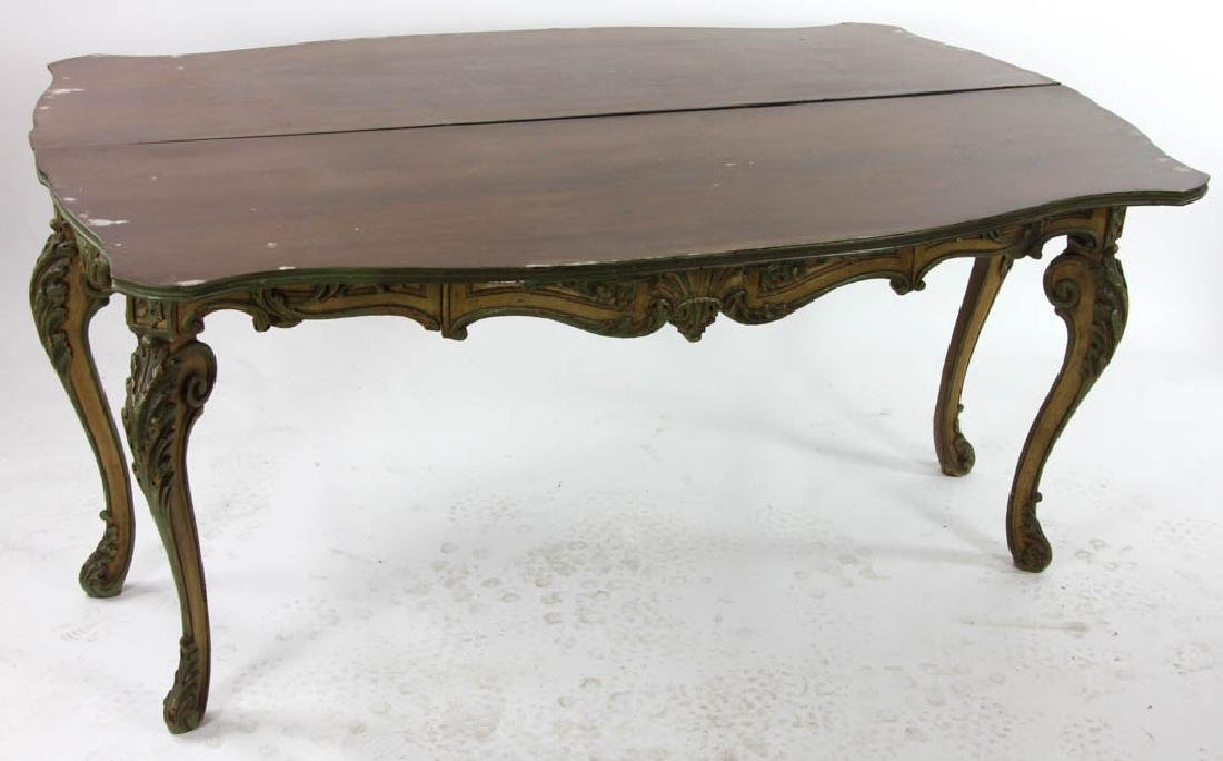 Faux Decorated Console Table - 6
