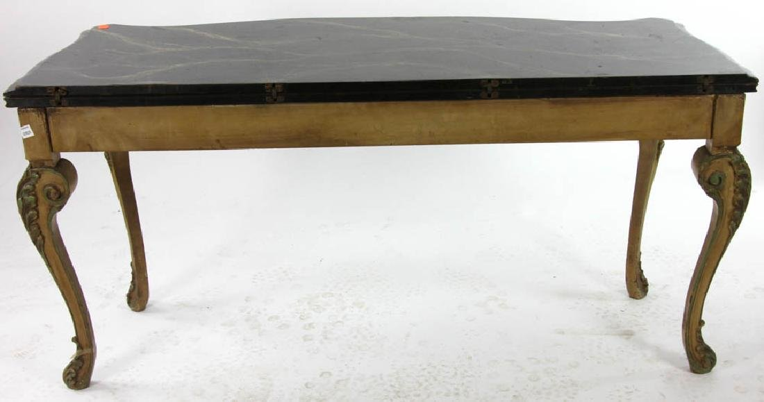 Faux Decorated Console Table - 9