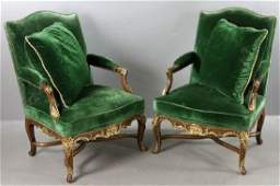 Pair of Continental Style Armchairs