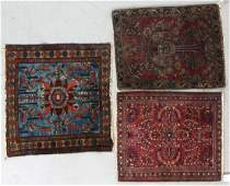 Antique Persian Rug Group of Three