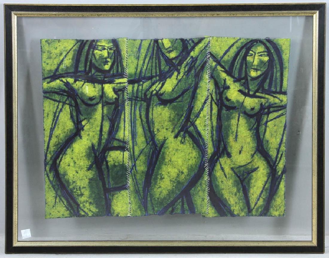 Johan Pellams Painting of Women on Linen