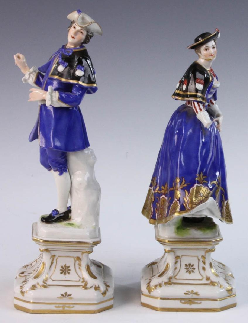 Pair of German Porcelain Figures - 3