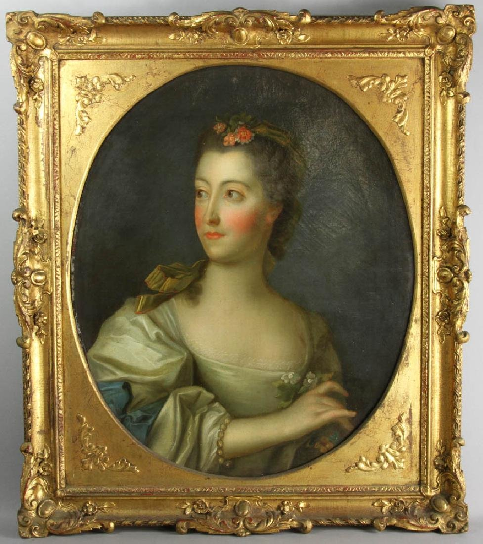 Jean-Marc Nattier Portrait Oil on Canvas