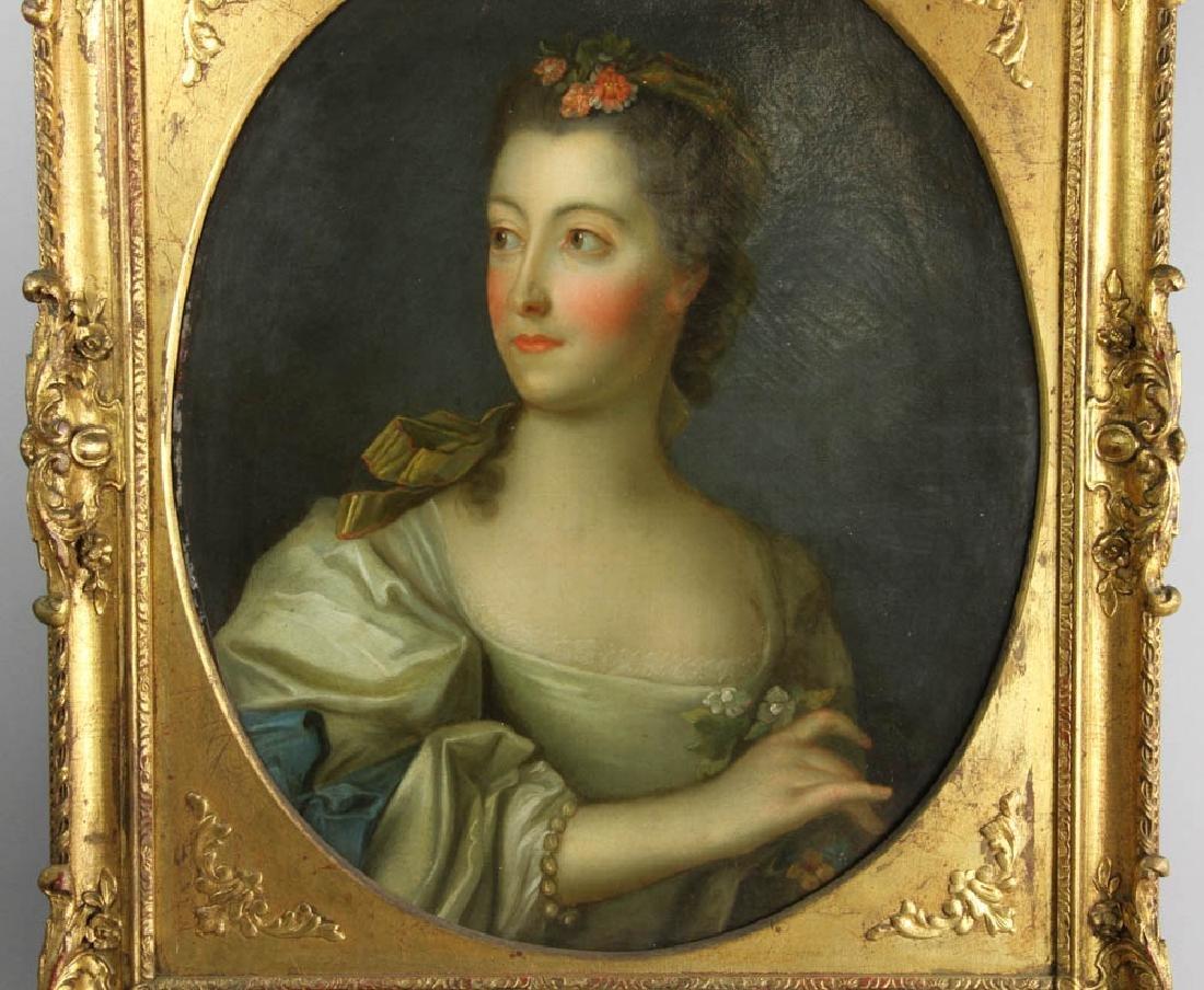 Jean-Marc Nattier Portrait Oil on Canvas - 2