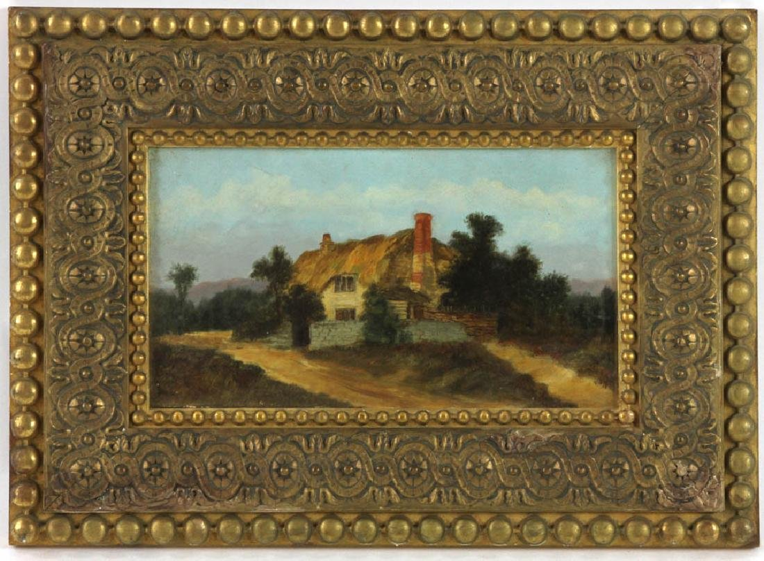 19thC Landscape Oil on Board