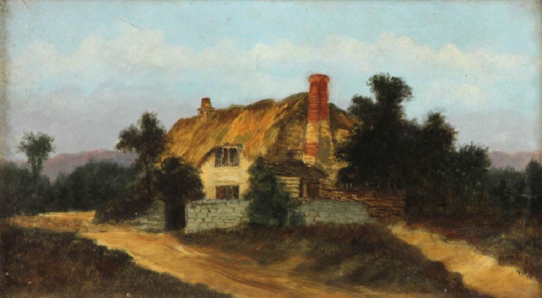 19thC Landscape Oil on Board - 2