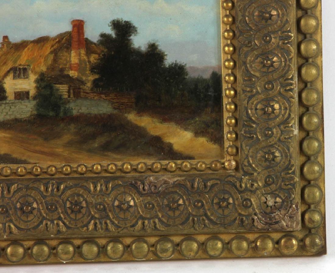 19thC Landscape Oil on Board - 3