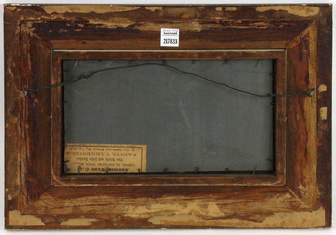 19thC Landscape Oil on Board - 4