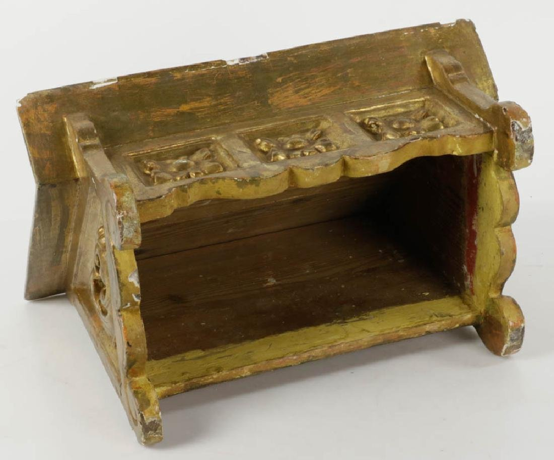 19thC Italian Baroque Giltwood Book Stand - 5