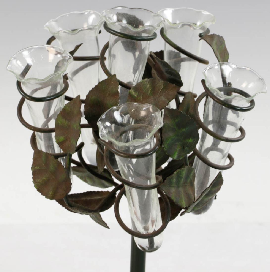 Cast Iron Painted Bud Vase - 3