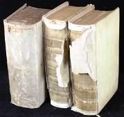 Group of Three Vellum Books