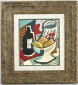 Attr to Emil Filla, Still Life, Oil on Canvas