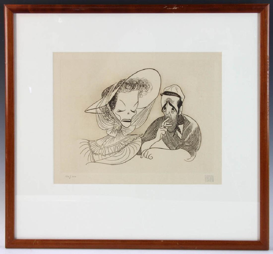Hirschfeld Signed Casablanca Print