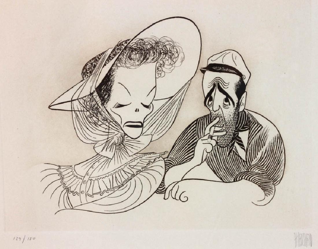 Hirschfeld Signed Casablanca Print - 2