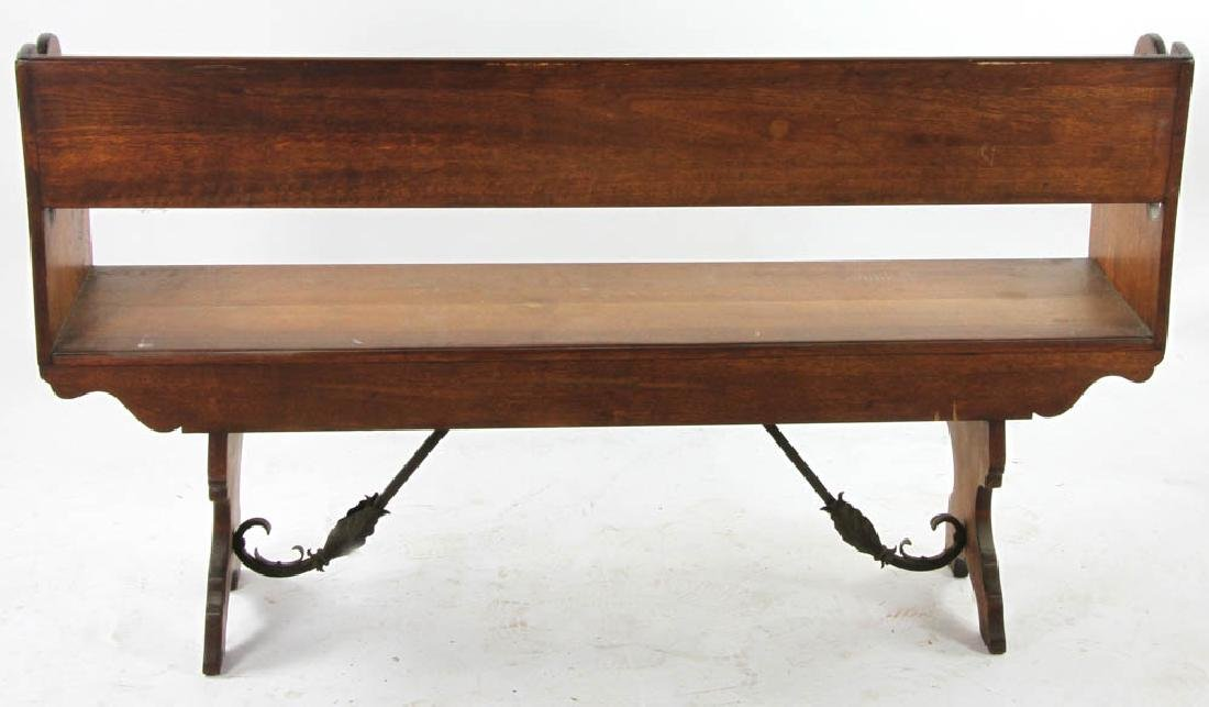 Carved Spanish Colonial Style Bench - 5