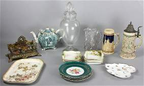 Collection of Nippon Porcelain Glass etc