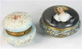 Antique Powder Jars Wavecrest Limoges
