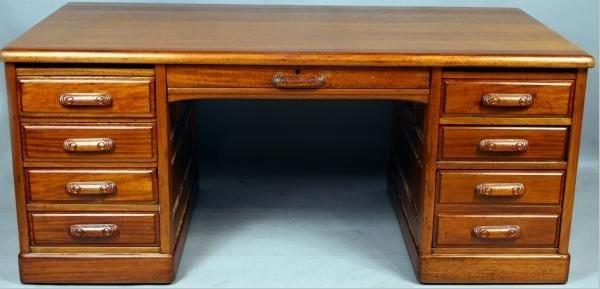 3005: 19th Century American Mahogany Partners' Desk