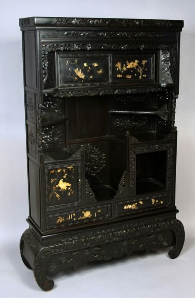 3015: 19th Century Japanese Etagere/Display Cabinet
