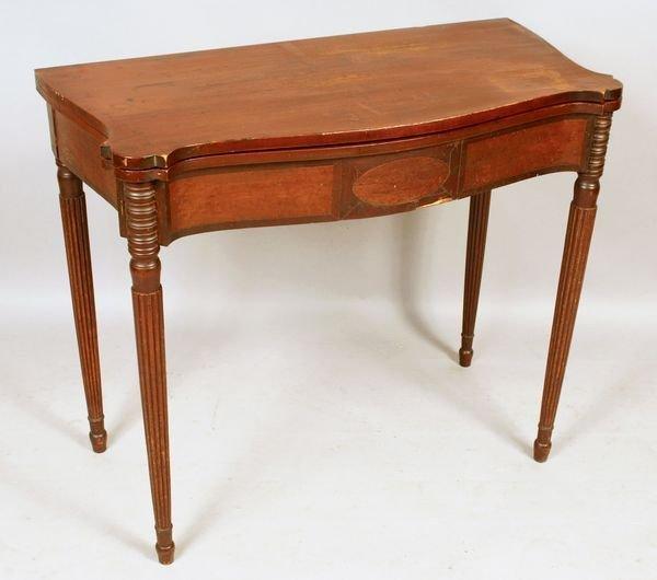 3020A: Early 19th C. Massachusetts Sheraton Card Table