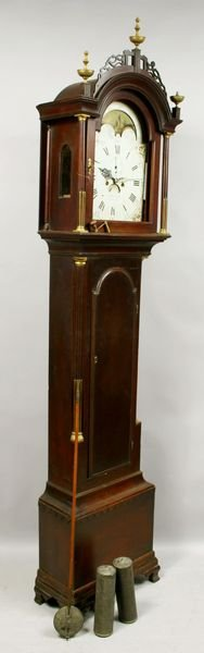 3057A: 18/19th C.Tall Clock by J. Mulliken, Concord, MA