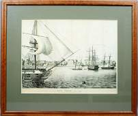 3174 Engraving New York C1790 Dated 1862