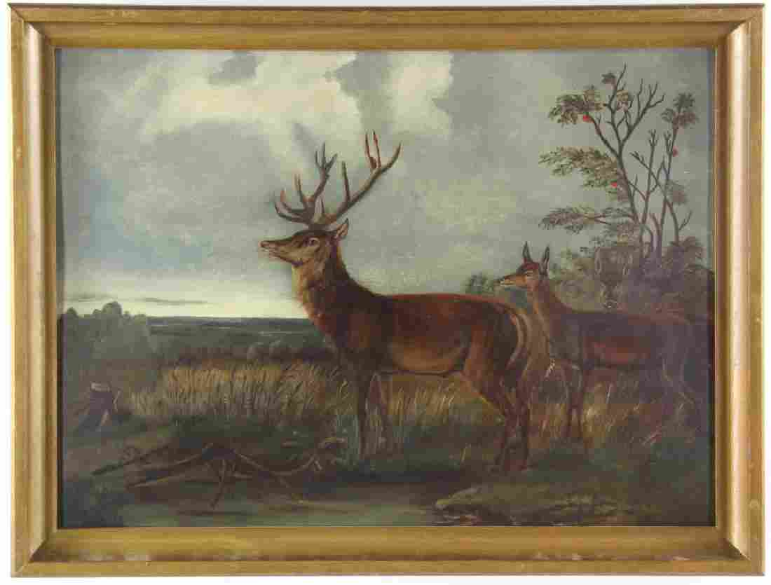 American School, Deer in Landscape