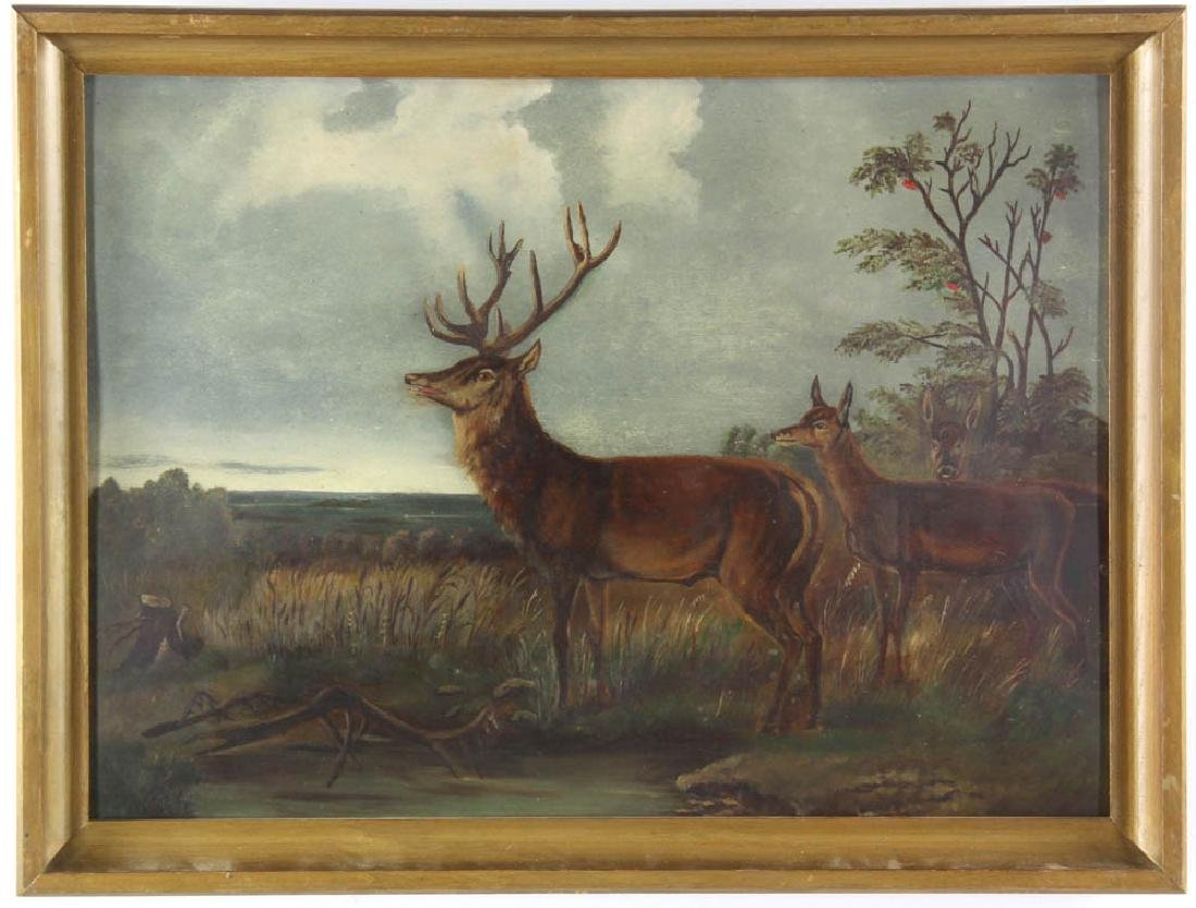 American School, Deer in Landscape