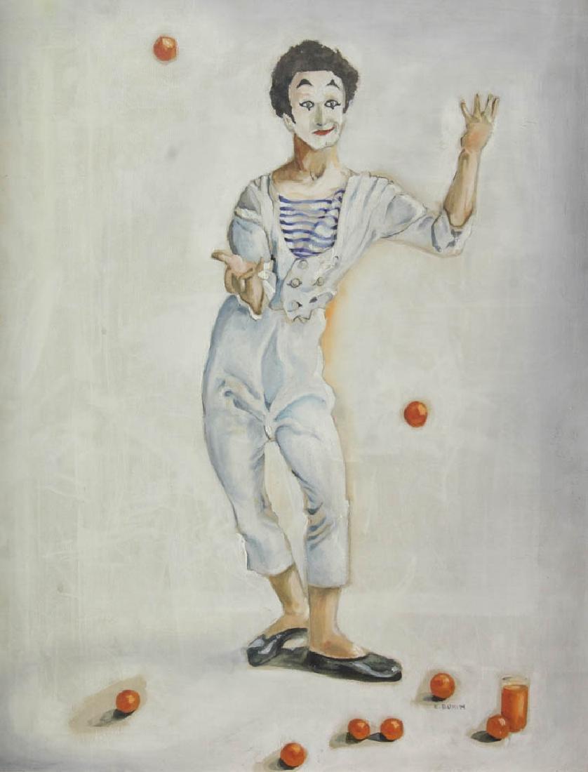E. Bunin Oil on Canvas - 2
