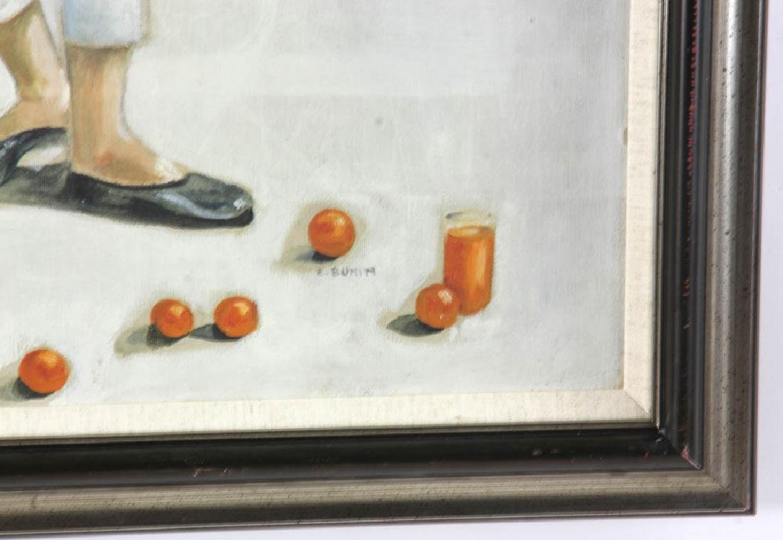 E. Bunin Oil on Canvas - 3