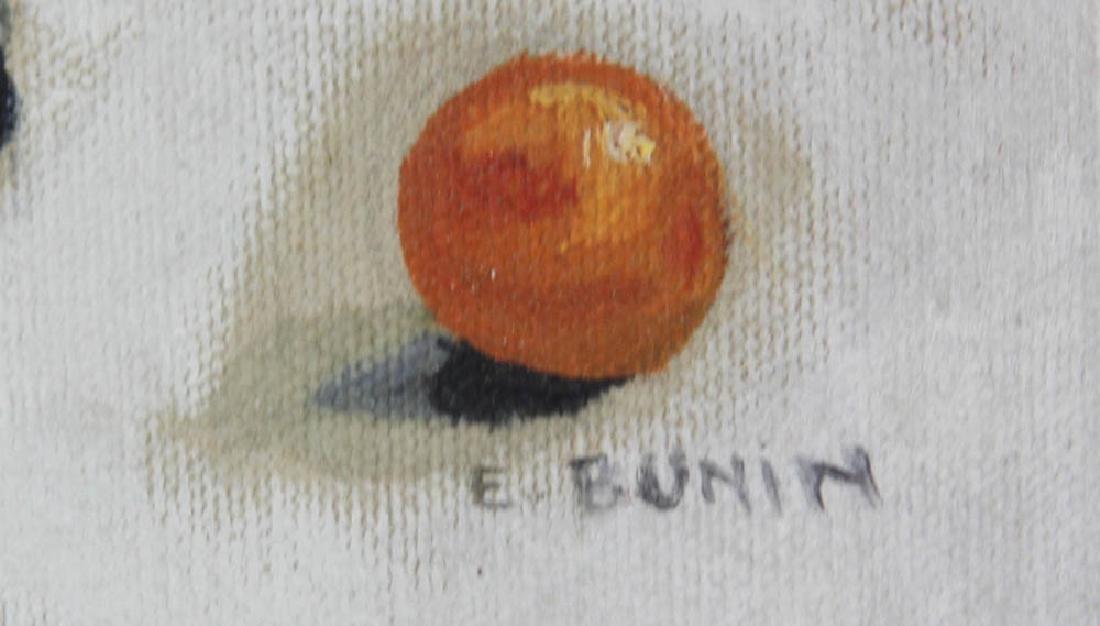 E. Bunin Oil on Canvas - 5