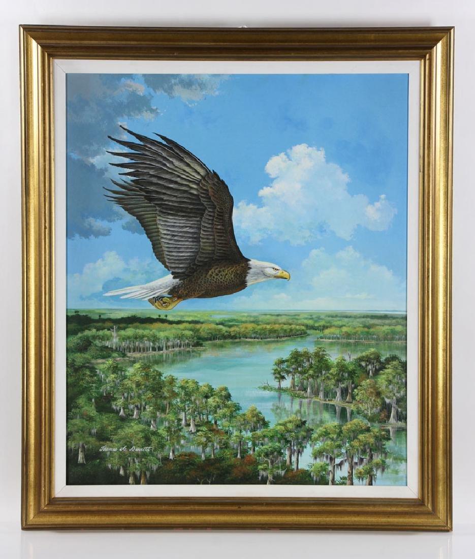 Bennett, Eagle Over St. James River, Oil
