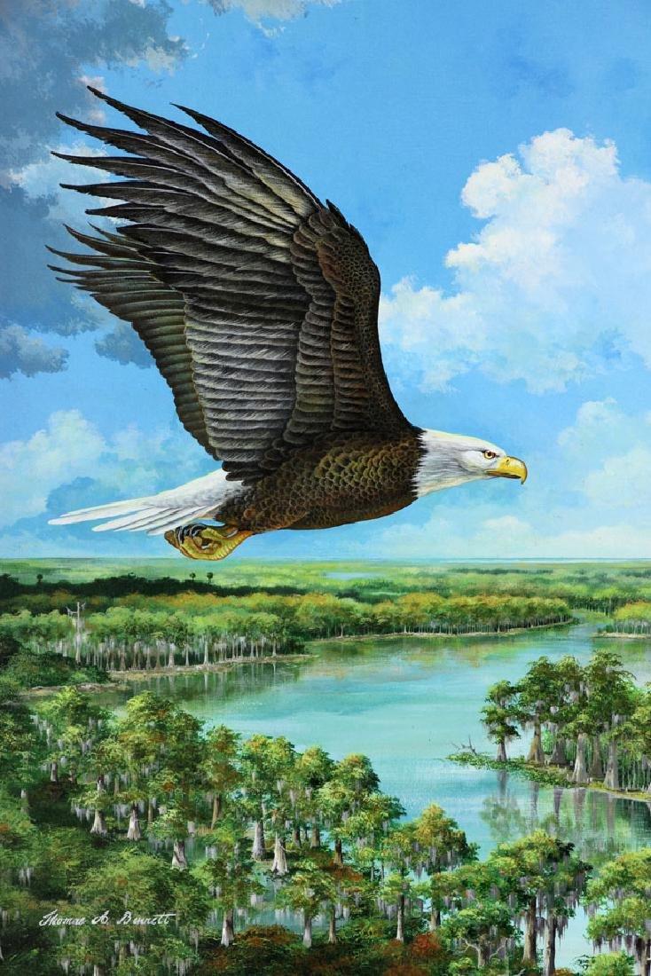 Bennett, Eagle Over St. James River, Oil - 2