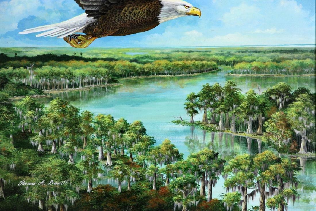 Bennett, Eagle Over St. James River, Oil - 3