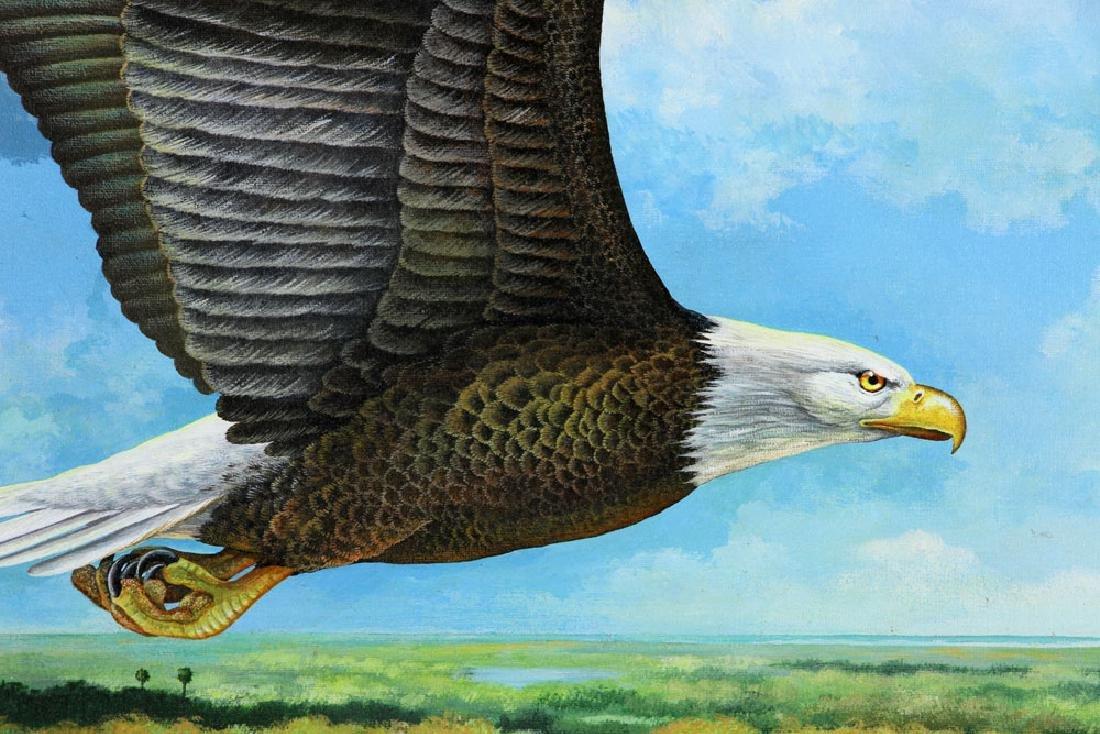 Bennett, Eagle Over St. James River, Oil - 4