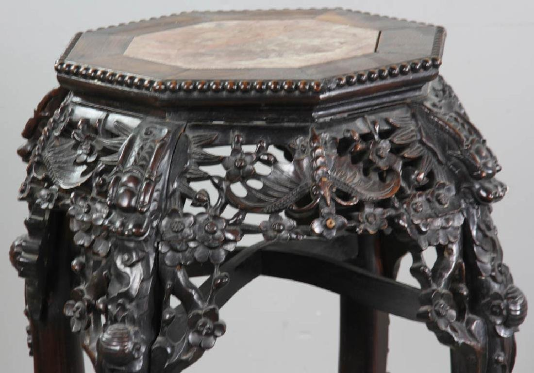 C1860 Chinese Export Carved Plant Stand - 2