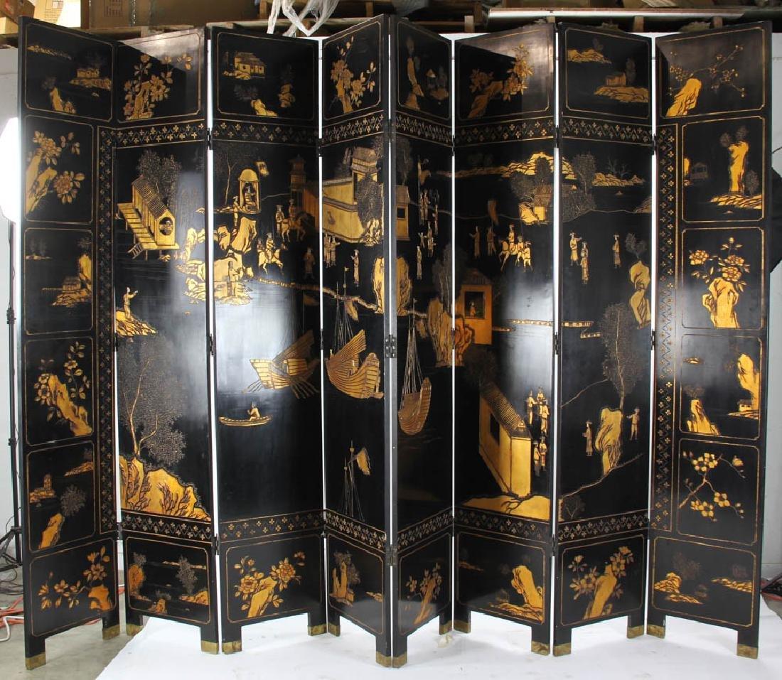 Eight Panel Chinese Screen - 6
