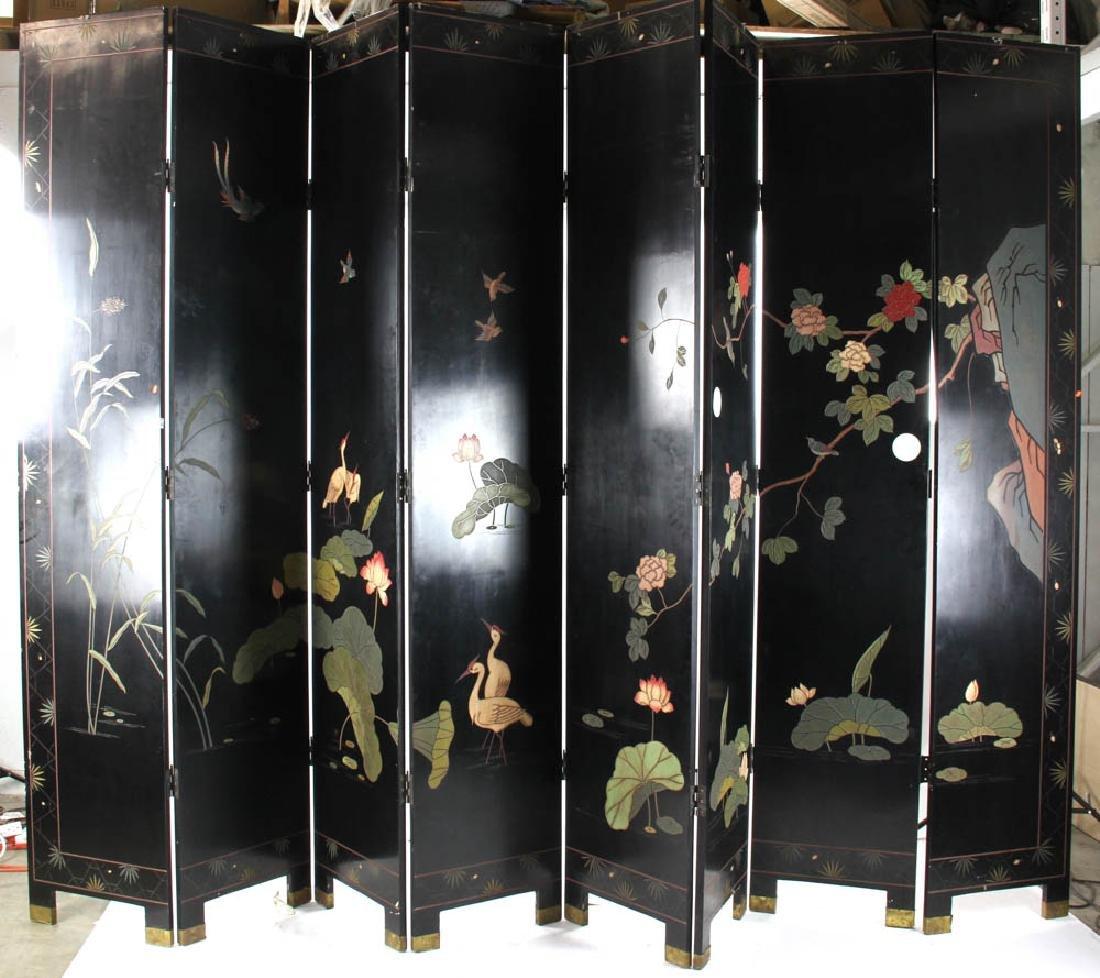 Eight Panel Chinese Screen - 7