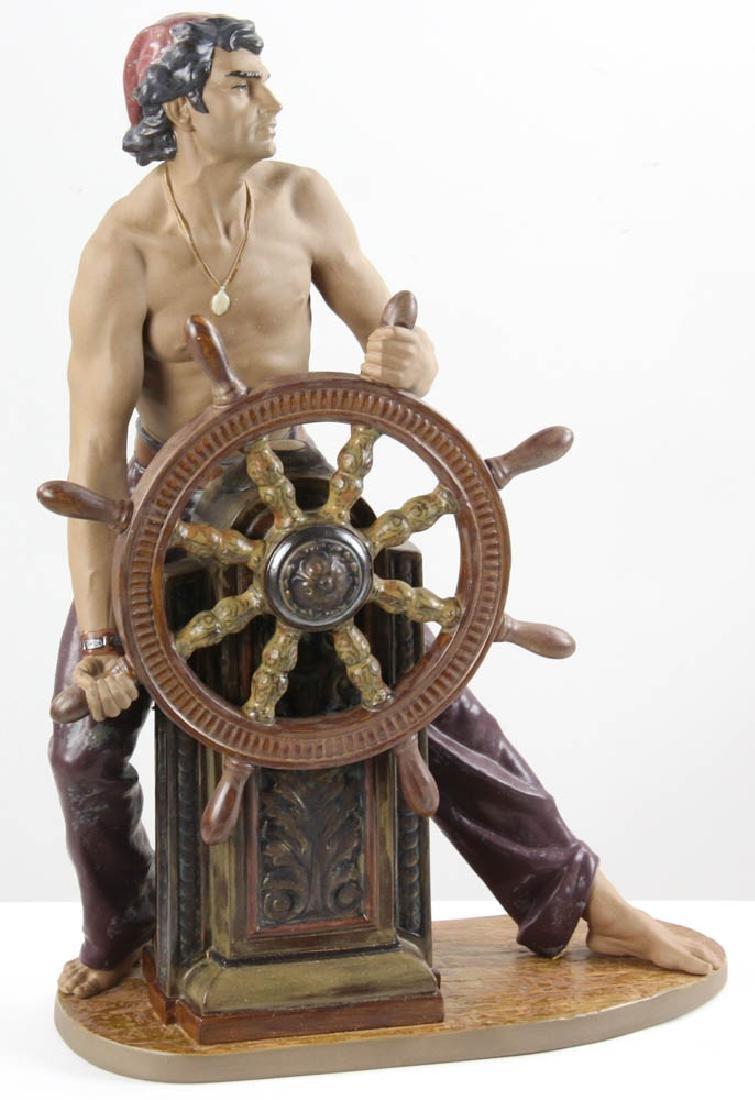 Lladro Figurine Stormy Sea Sailor