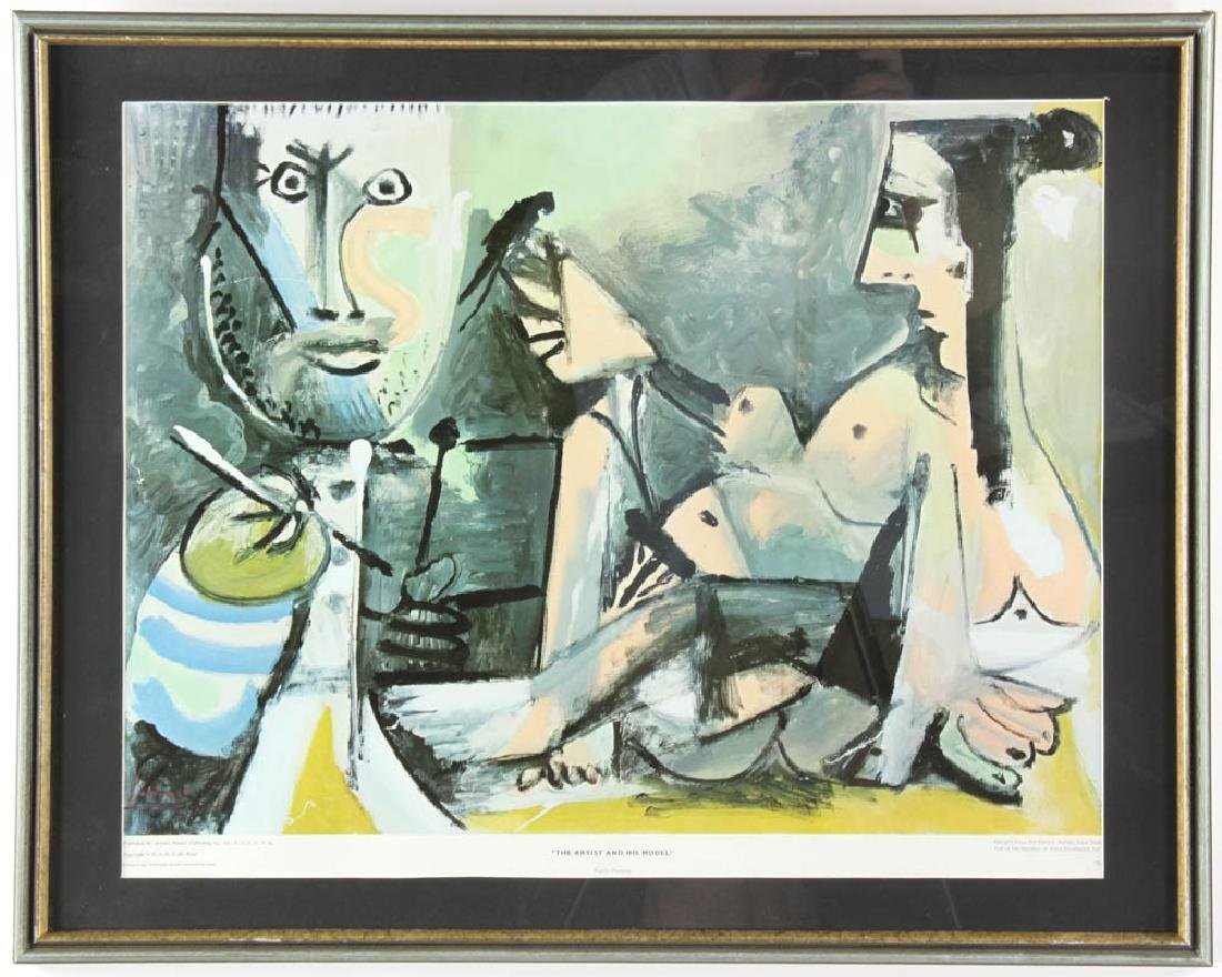 Pablo Picasso Litho The Artist and His Model