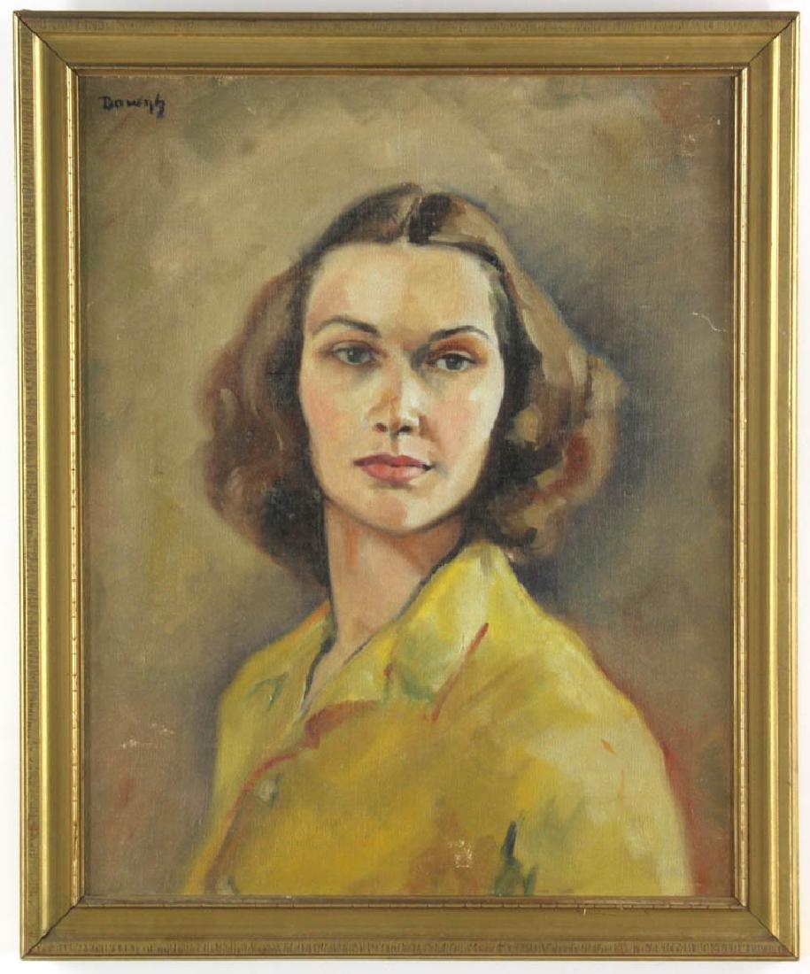 Jane Downs Carter Self Portrait Oil on Canvas