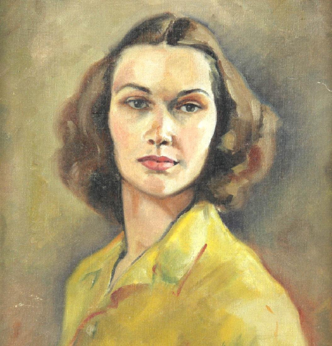 Jane Downs Carter Self Portrait Oil on Canvas - 2