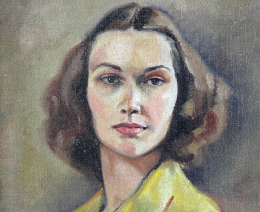 Jane Downs Carter Self Portrait Oil on Canvas - 4