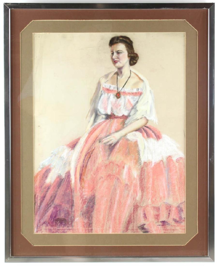 Jane Downs Carter Self Portrait Pastel on Artist Paper