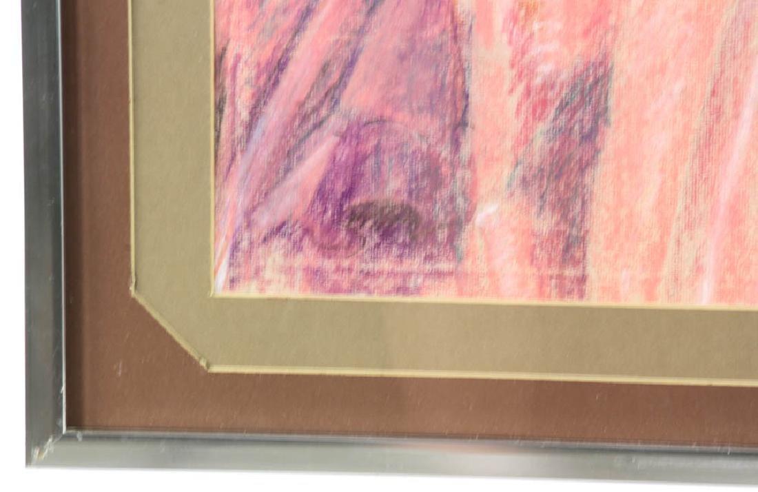 Jane Downs Carter Self Portrait Pastel on Artist Paper - 3
