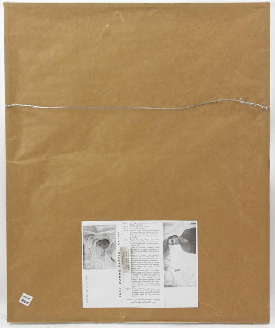 Jane Downs Carter Self Portrait Pastel on Artist Paper - 5