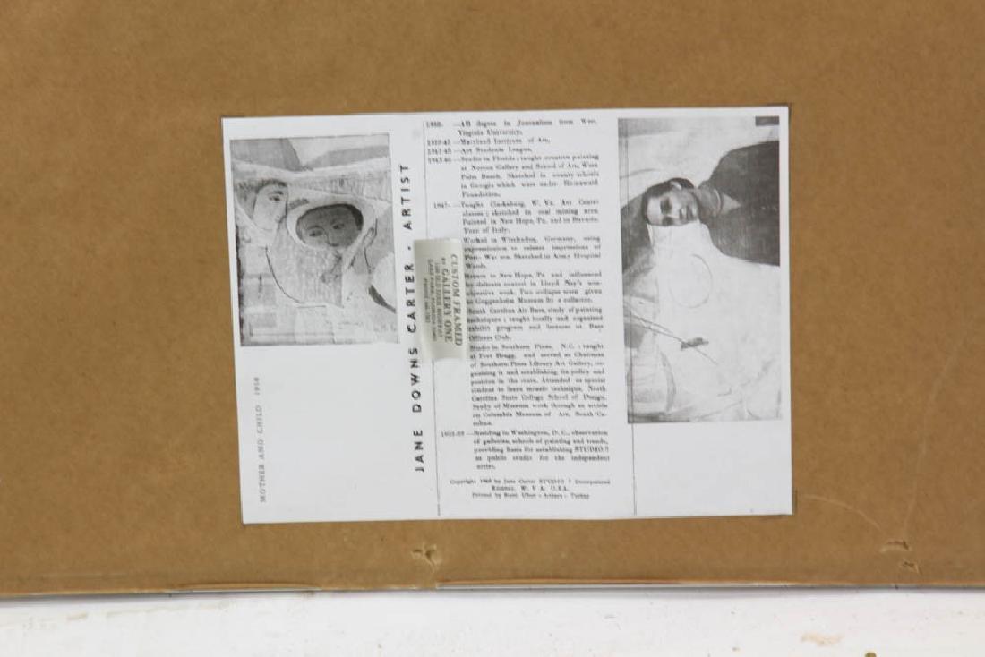 Jane Downs Carter Self Portrait Pastel on Artist Paper - 6