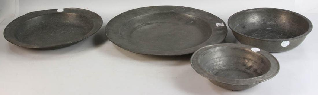 Twelve Pieces of Early Pewter - 2
