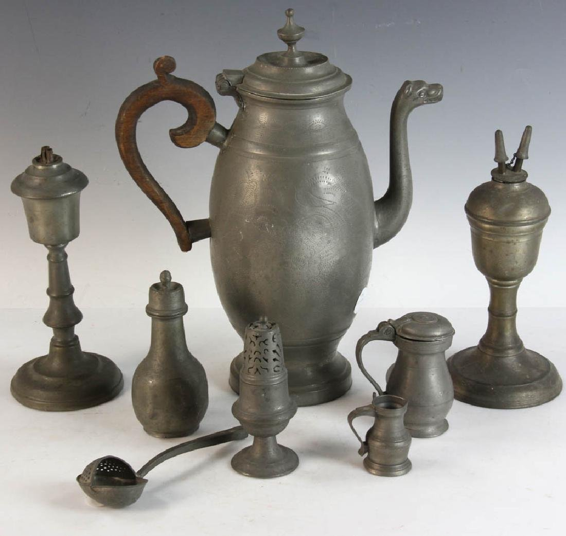 Twelve Pieces of Early Pewter - 3