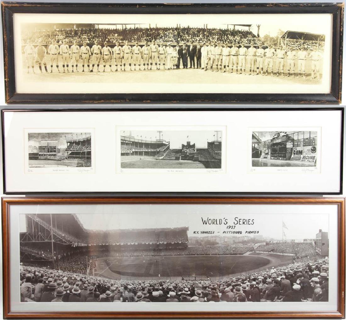 Three Panoramic Baseball Photos